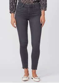 Paige Denim Hoxton High Rise Ankle Skinny Jeans - Smokey Distressed
