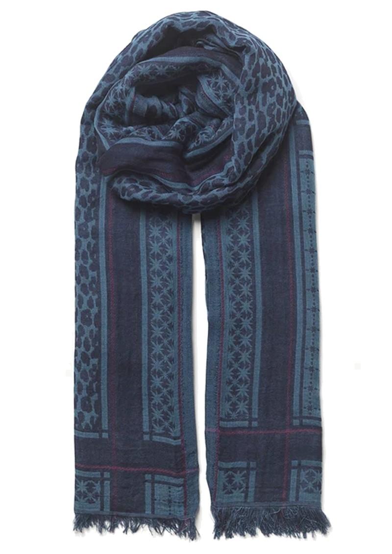 Becksondergaard lKoel Coja Cotton Mix Scarf - Maritime Blue main image