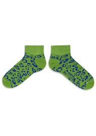 ESSENTIEL ANTWERP Alkiri Cotton Mix Leopard Socks - Anti Green