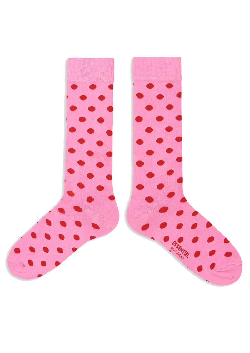 ESSENTIEL ANTWERP Abushka Knee Length Polka Dot Socks - Lipstick Wonder main image