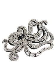 ESSENTIEL ANTWERP Agnes Rhinestone Octopus Brooch - Combo 1