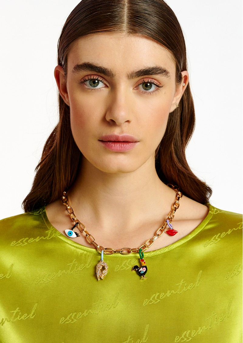 ESSENTIEL ANTWERP Abel Pendant Chain Necklace - Gold main image