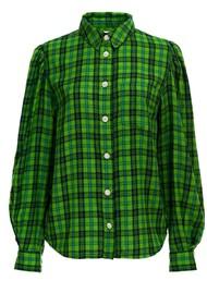 ESSENTIEL ANTWERP Almond Check Cotton Shirt - Anti Green