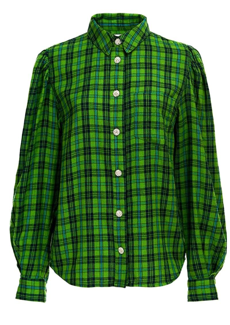 ESSENTIEL ANTWERP Almond Check Cotton Shirt - Anti Green main image