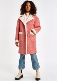 ESSENTIEL ANTWERP Alida Wool Blend Coat - Coral Queen