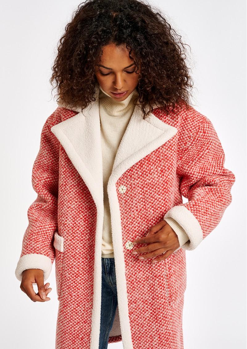 ESSENTIEL ANTWERP Alida Wool Blend Coat - Coral Queen main image