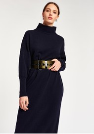 ESSENTIEL ANTWERP Asensation Merino Wool Mix Dress - Army Navy