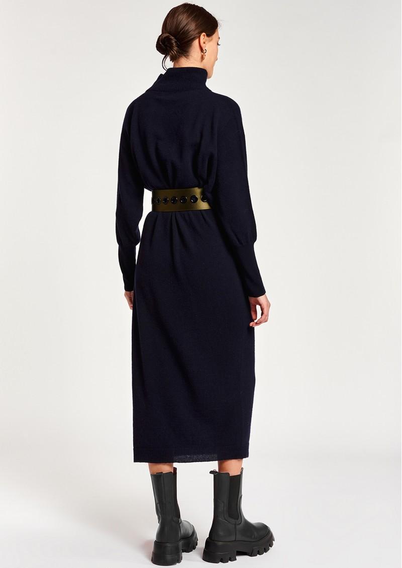 ESSENTIEL ANTWERP Asensation Merino Wool Mix Dress - Army Navy main image