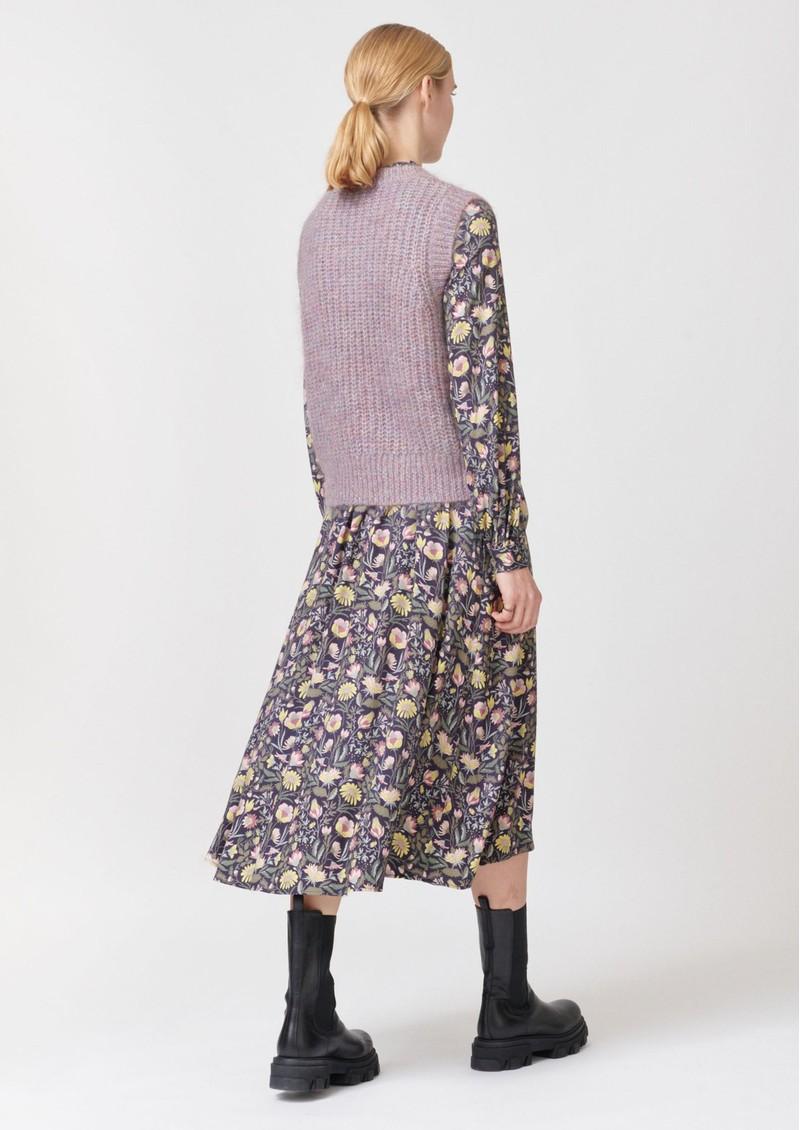 DEA KUDIBAL Vera Mohair Blend Knitted Vest - Lavender main image