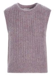 DEA KUDIBAL Vera Mohair Blend Knitted Vest - Lavender