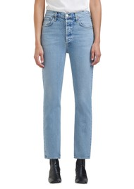 AGOLDE Riley High Rise Crop Straight Leg Jean - Shiver