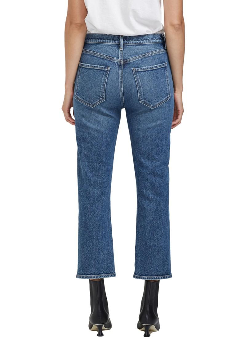 AGOLDE Riley High Rise Crop Straight Leg Jean - Transfer main image