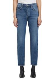 AGOLDE Riley High Rise Crop Straight Leg Jean - Transfer