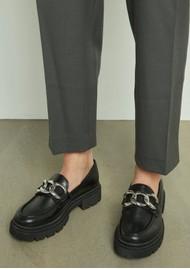 SHOE BIZ COPENHAGEN Uklava Leather Loafers - Black