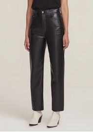AGOLDE 90s High Rise Pinch Waist Recycled Leather Straight Leg Trousers - Detox