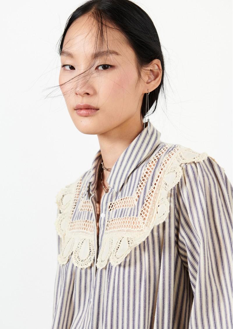 Ba&sh Anael Cotton Shirt - Sky Blue main image