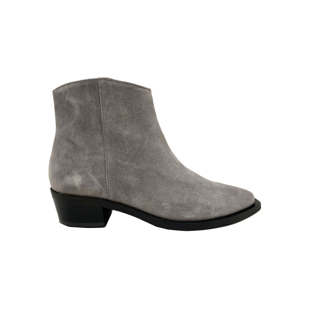Uviaya Suede Ankle Suede Boot - Grey