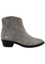 SHOE BIZ COPENHAGEN Uviaya Suede Ankle Suede Boot - Grey