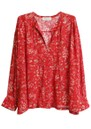 Bernie Printed Blouse - Red additional image