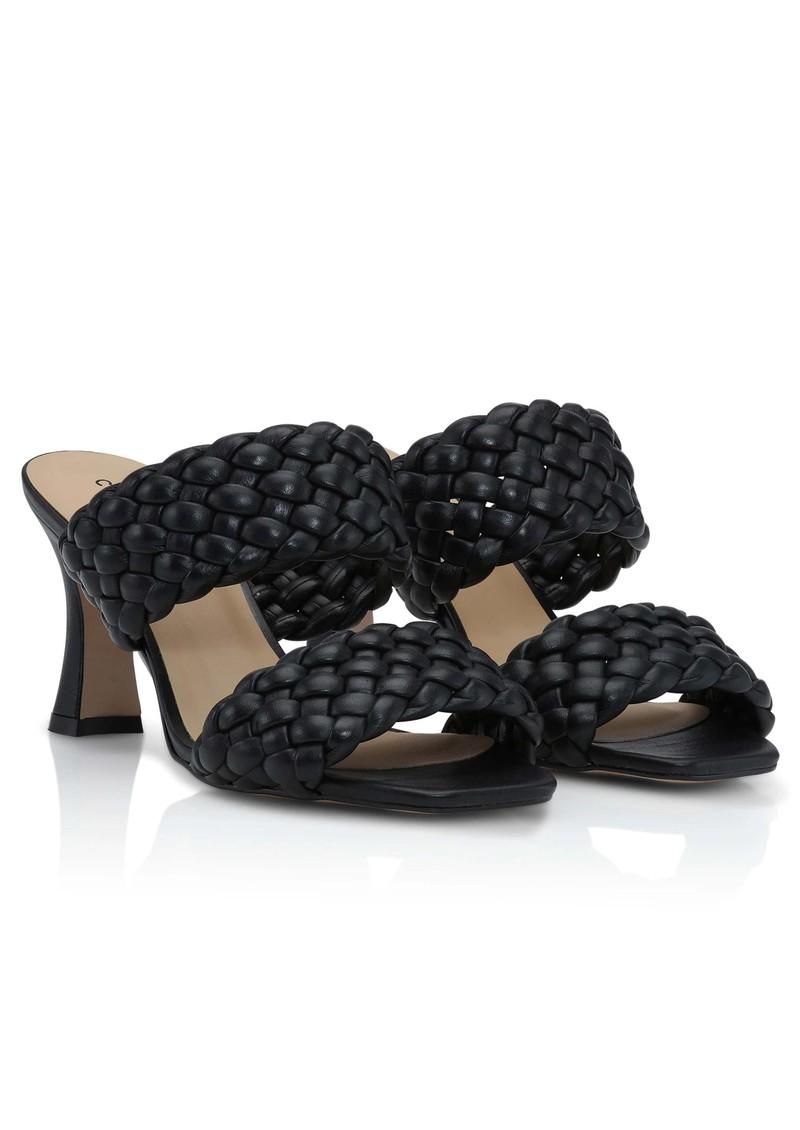 SHOE BIZ COPENHAGEN Samie Braided Leather Mules - Black main image