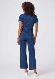 Paige Denim Anessa Short Sleeve Denim Jumpsuit - Jelina