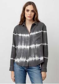 Rails Ingrid Raw Hem Linen Mix Shirt - Coal White