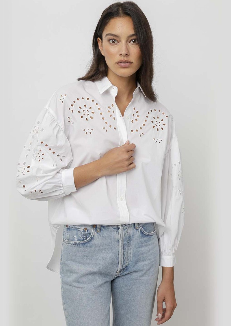 Rails Alister Cotton Mix Shirt - White main image