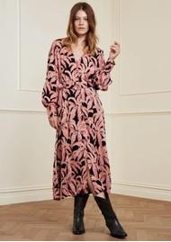 FABIENNE CHAPOT Suraya Isa Belted Midi Dress - La La Leaves Pink
