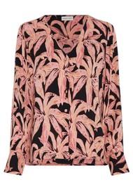 FABIENNE CHAPOT Suraya Top - La La Leaves Pink