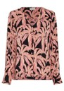 Suraya Top - La La Leaves Pink additional image