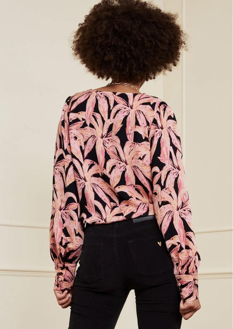 FABIENNE CHAPOT Suraya Top - La La Leaves Pink main image