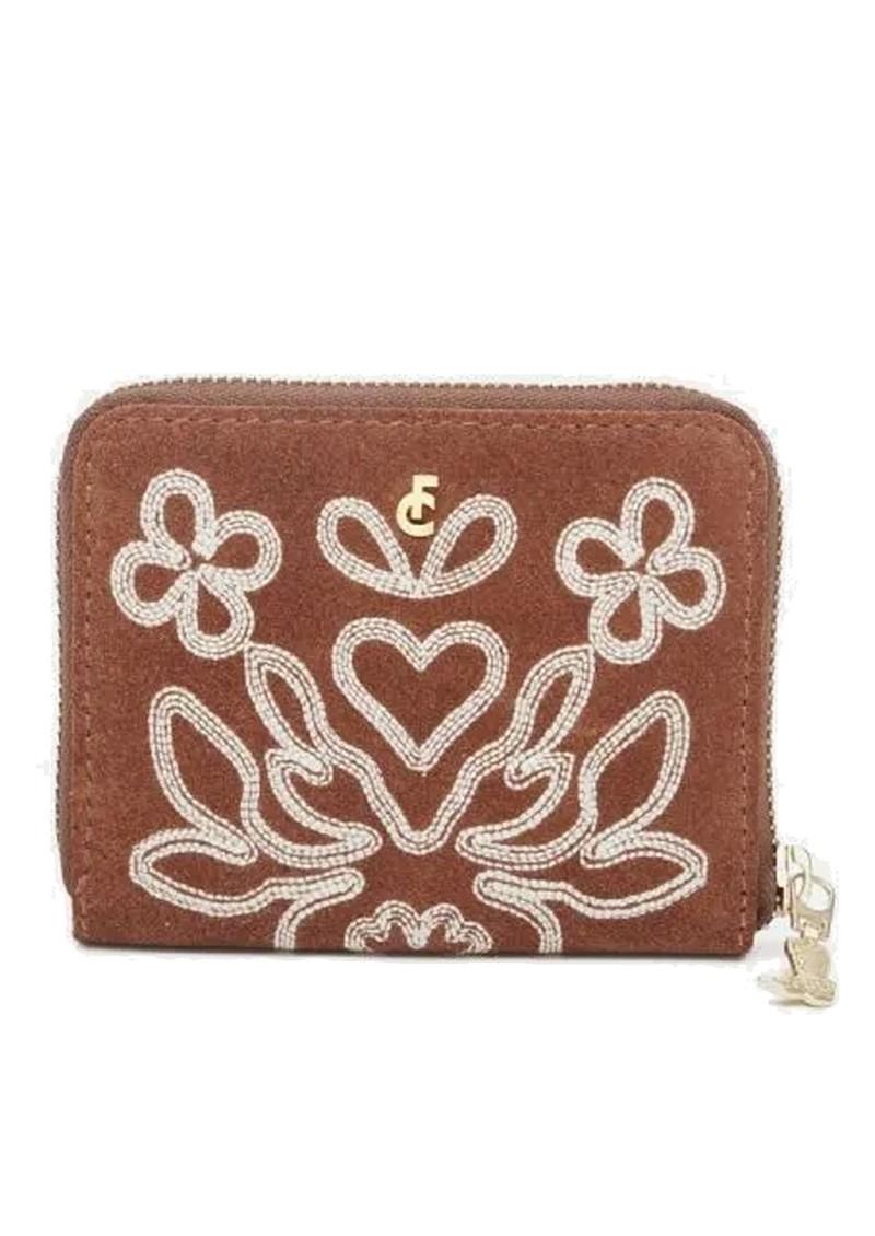 FABIENNE CHAPOT Mimi Leather Wallet - Cognac & Cream White main image