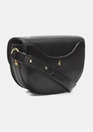 FABIENNE CHAPOT Anais Leather Embroidered Bag - Black & Cream White