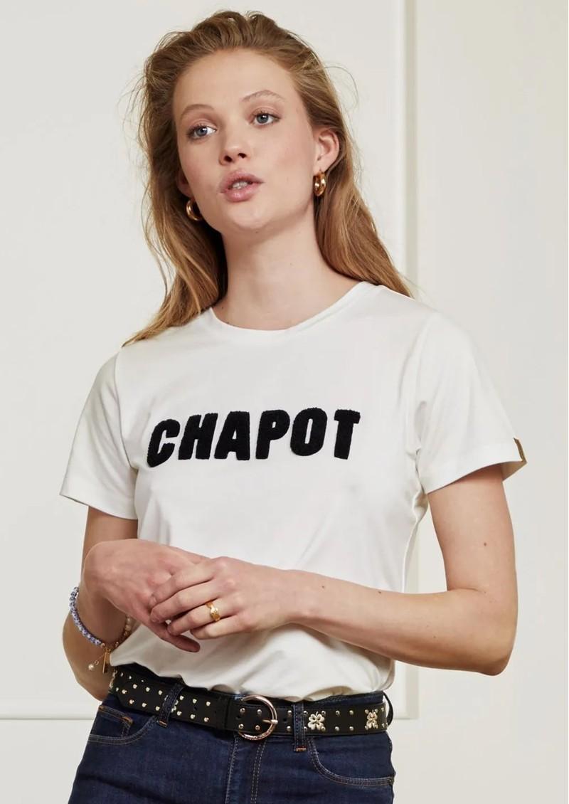 FABIENNE CHAPOT Clover Leather Studded Belt - Black & Cream White main image