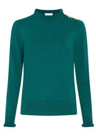 FABIENNE CHAPOT Molly Frill Pullover - Deep Teal