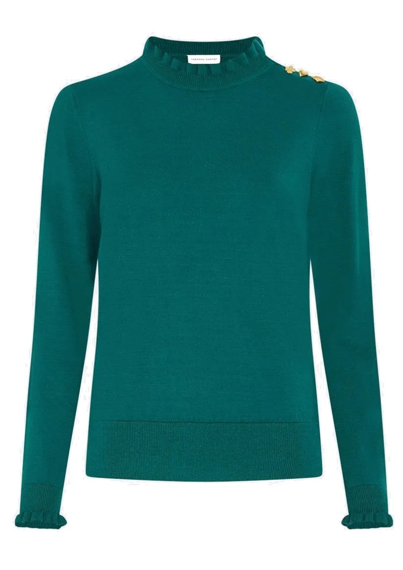 FABIENNE CHAPOT Molly Frill Pullover - Deep Teal main image
