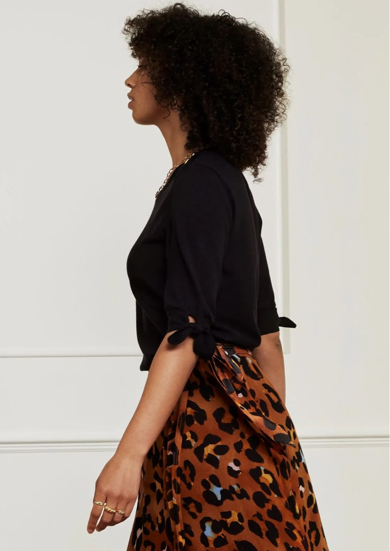 FABIENNE CHAPOT Molly Short Sleeve Pullover - Black main image
