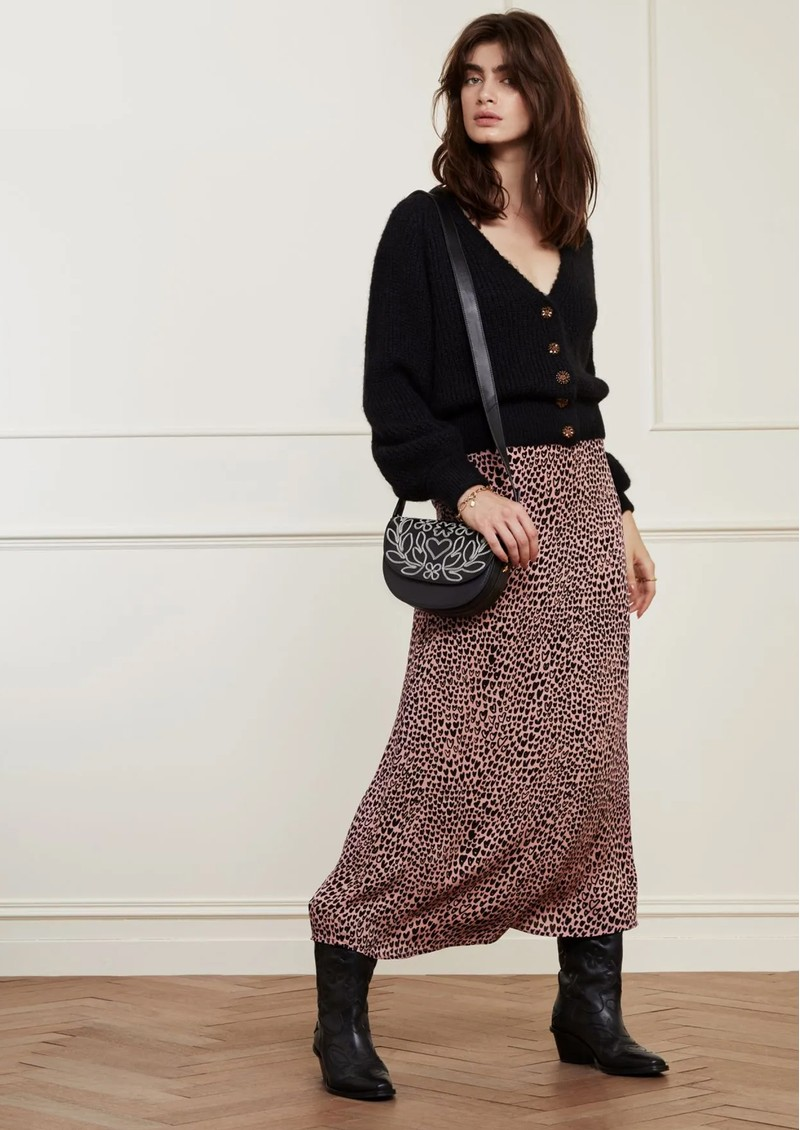 FABIENNE CHAPOT Starry Knitted Cardigan - Black main image