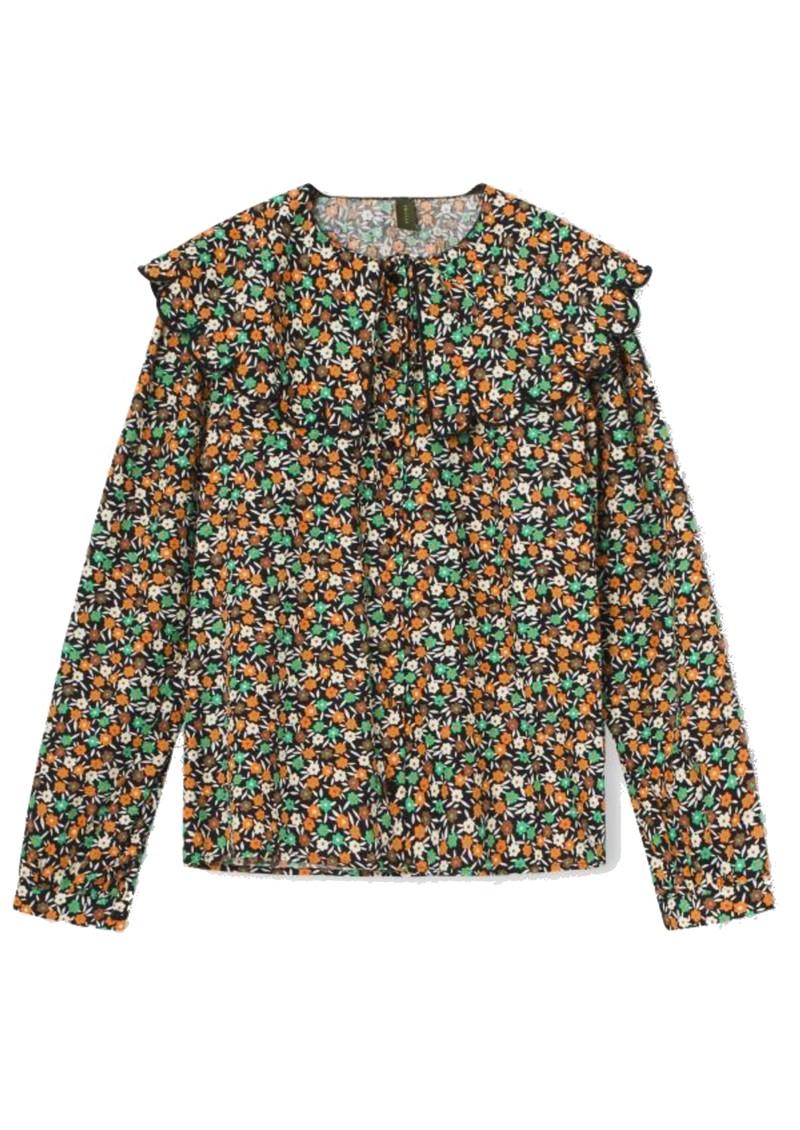 RESUME Gia Floral Printed Cotton Top - Black main image