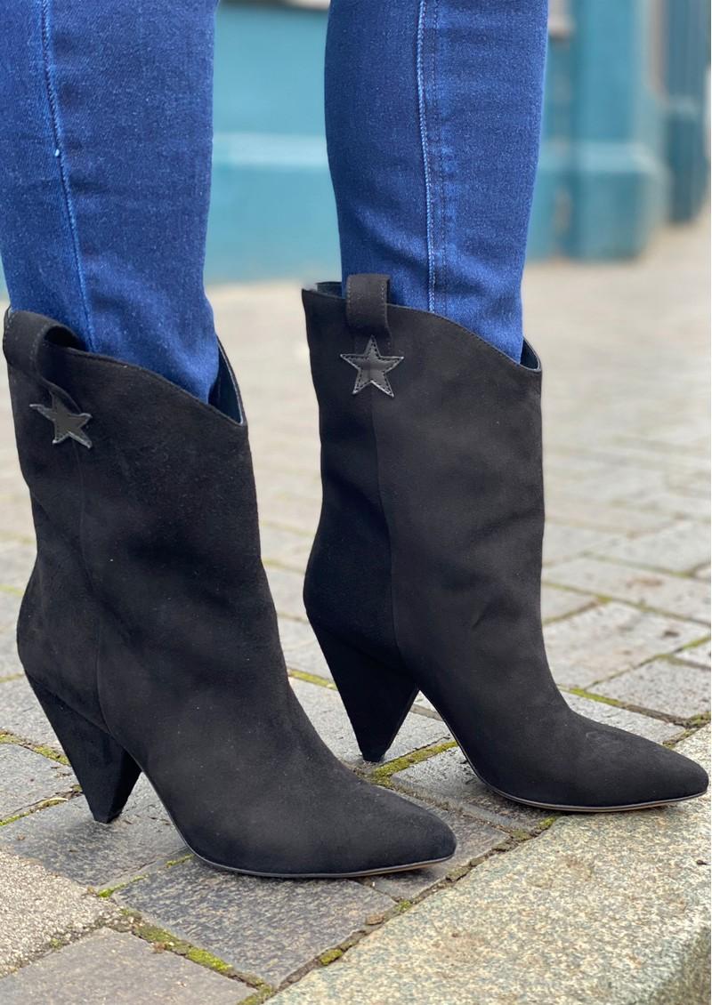 FABIENNE CHAPOT Josefin Suede Ankle Boots - Black main image