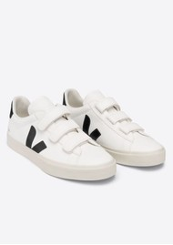 VEJA Recife Leather Trainers - Extra White & Black