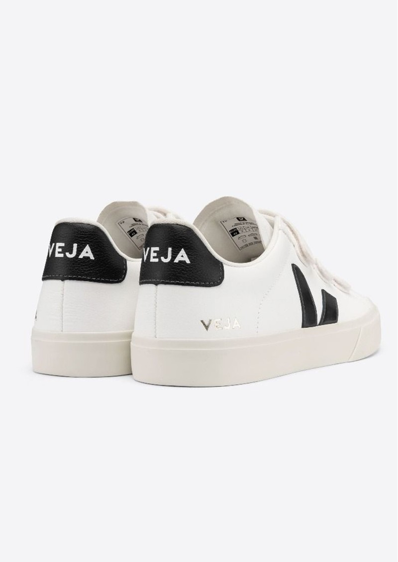 VEJA Recife Leather Trainers - Extra White & Black main image