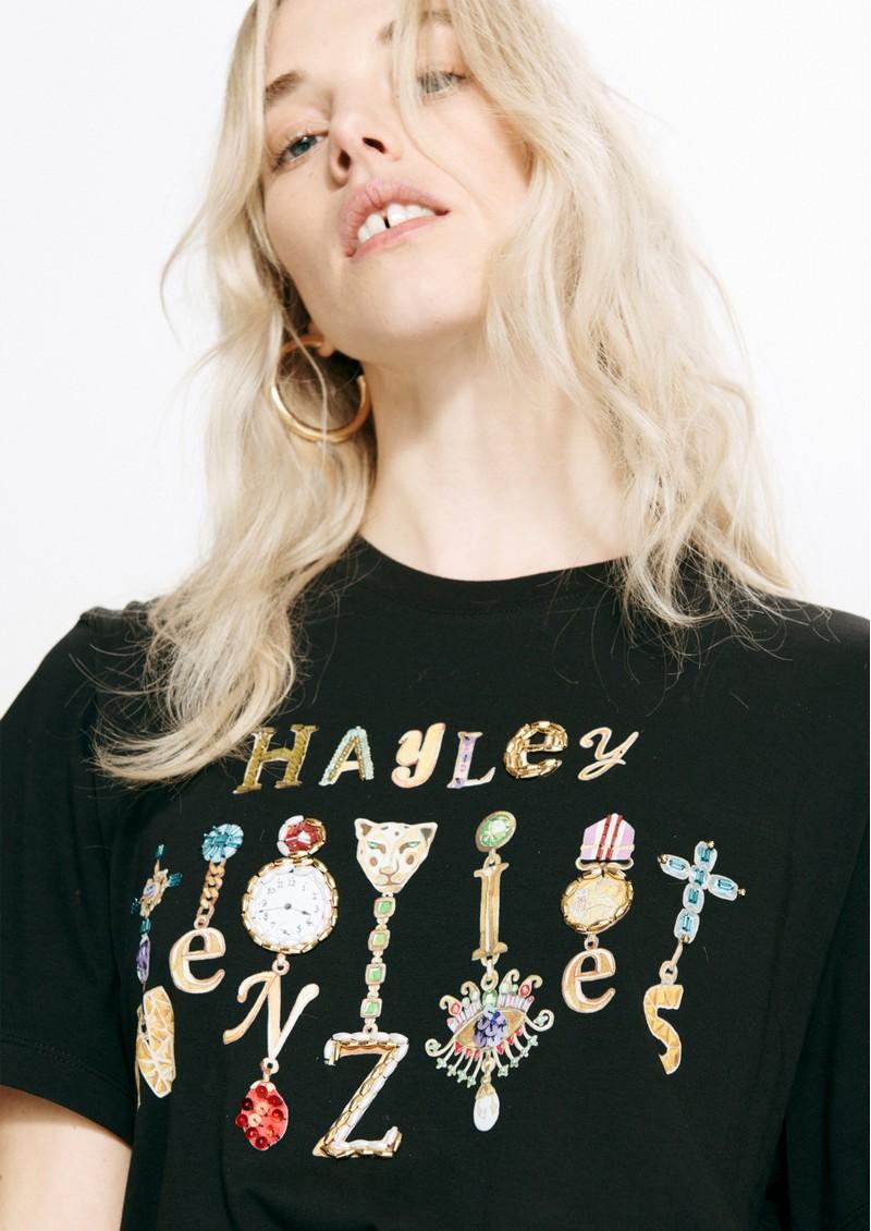 HAYLEY MENZIES Forever Portobello Pima Cotton Tee - Black main image
