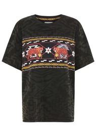 HAYLEY MENZIES Aztec Tiger Pima Cotton Tee - Black