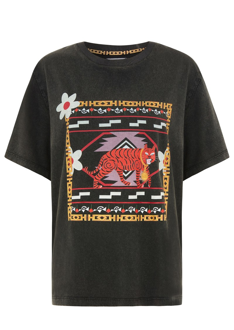 HAYLEY MENZIES Portobello Tiger Pima Cotton Tee - Black main image