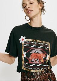 HAYLEY MENZIES Portobello Tiger Pima Cotton Tee - Black