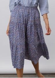 LOLLYS LAUNDRY Morning Midi Floral Skirt - Blue