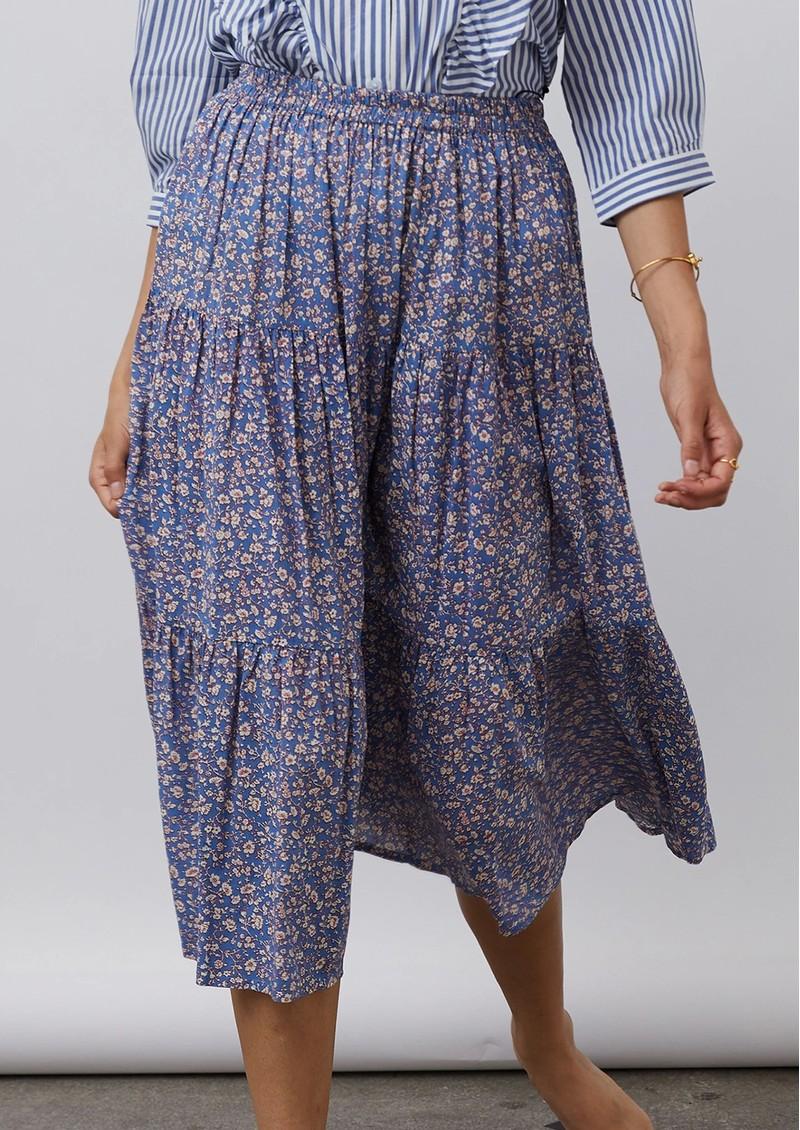 LOLLYS LAUNDRY Morning Midi Floral Skirt - Blue main image