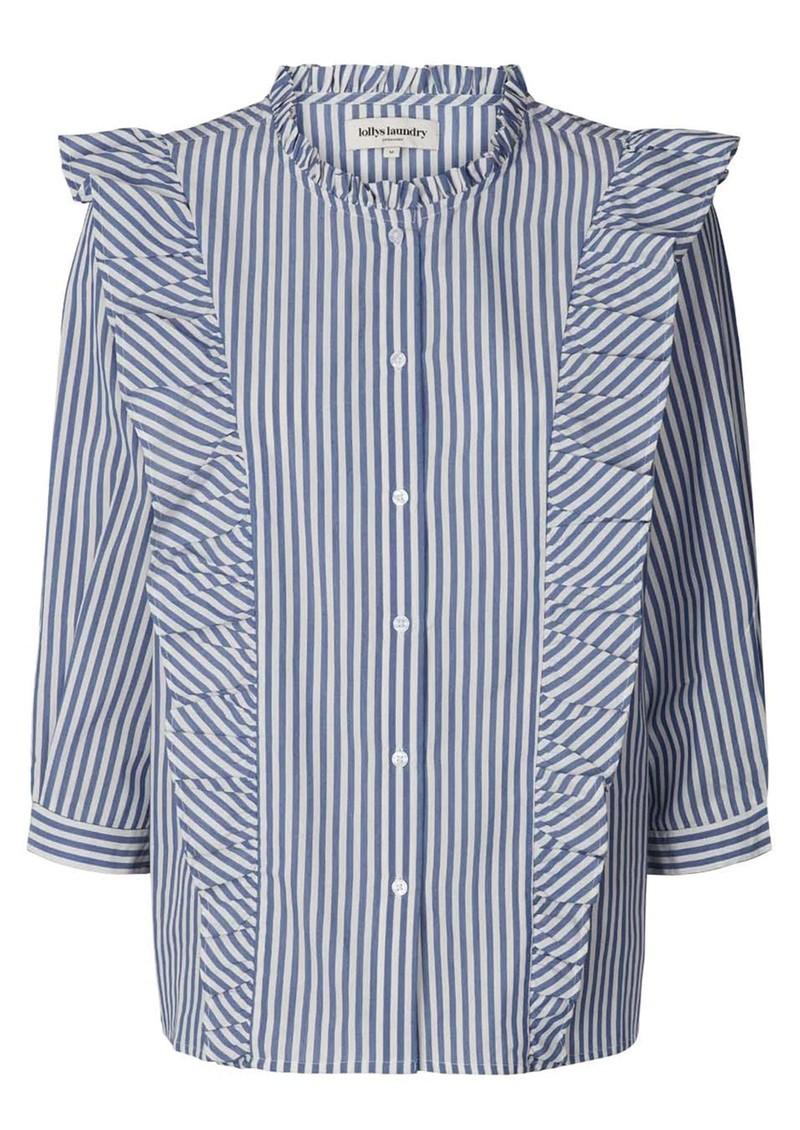 LOLLYS LAUNDRY Hanni Stripe Shirt - Blue & White main image