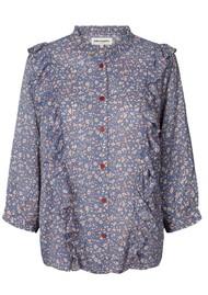 LOLLYS LAUNDRY Hanni Floral Shirt - Blue